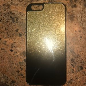 MK BLACK AND GOLD PHONE CASE